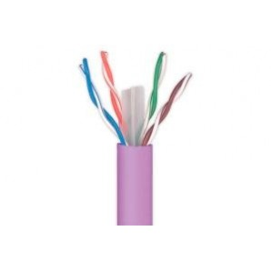 Other cables - Rollo de cable UTP JETLAN cat. 6 4PR24AWG PVC 305m gris