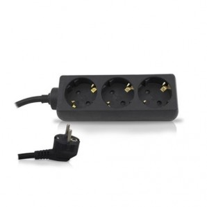 Base multiple 3 plugs 1.5 m cable black GSC 0000024