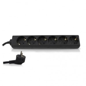Based multiple 6 outlets, 1.5 m cable black GSC 0000024