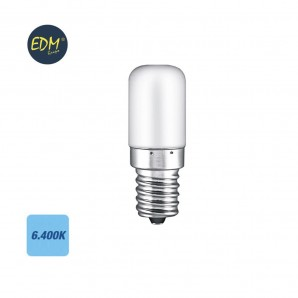 Led bulbs E27 and E14 - Bombilla de led tubular 4.5W E14 400lm 6400K EDM 98886