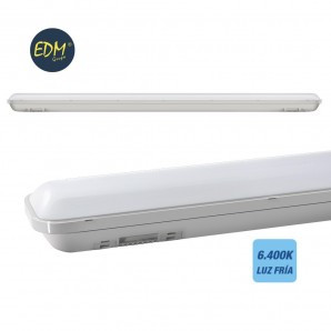 LED IP65 watertight strip 18w 1500 lumens 6500K cold light EDM