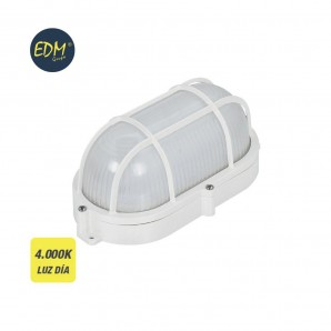 Applique surface - Apply outer oval grille LED 1080 lumens 9w IP65 4000K EDM