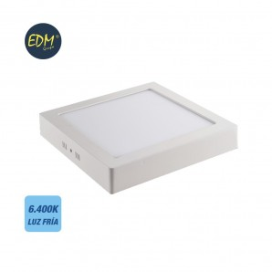 Comprar LED Downlight 20w 1500 lumens surface 6.400k cold white light EDM online