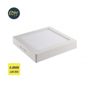 Downlight LED superficie cuadrado 20W 4000K 1500lm blanco EDM 31591