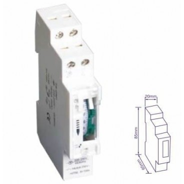 24 hours daily timer DIN rail GSC 0,400,269