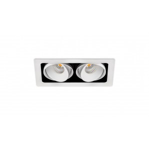 ARKOSLIGHT A2044221WT | Empotrable TWIST DOUBLE 2 10,5W DIM TR.EDGE FLOOD 3000K blanco