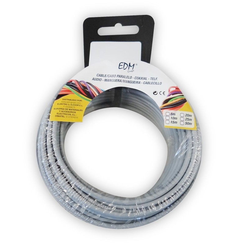 Carrete cablecillo flexible 1,5mm gris 15mts libre-halogeno