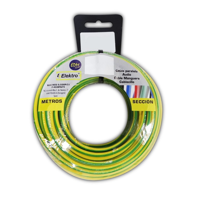 Carrete cablecillo flexible 1,5 mm bicolor 20 mts. libre-halogeno
