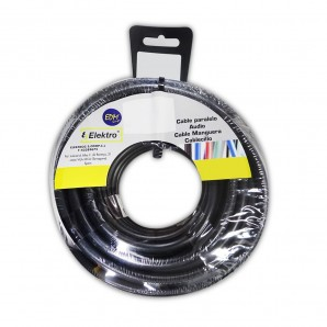 Carrete cablecillo flexible 6 mm. negro 10 mts. libre-halogeno