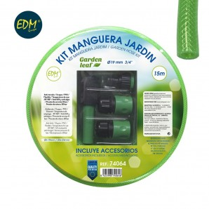 "Kit manguera jardin diam. int.19mm diam. ext. 25mm (3/4"") rollo 15m"