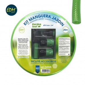 "Kit manguera jardin diam. int.19mm diam. ext. 25mm (3/4"") rollo 25m"
