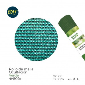 Hedges, grass and hiding - Rollo malla verde 80% 90gr 1x50mts