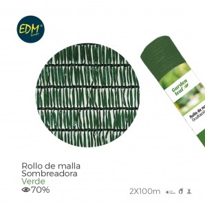 Rotolo maglie verde 70% 2,00x100mts
