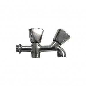 Faucets and rubber washer - Grifo lavadora doble rosca v/metal cromado 1/2