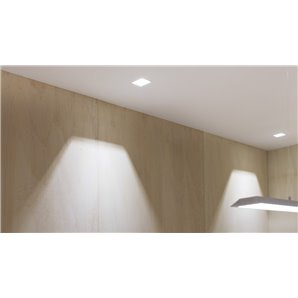 ARKOSLIGHT A2553220W | Empotrable SWAP SQUARE ASYM 7W DIM PH.CUT 2700K blanco