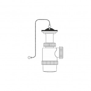 "Siphons and valves - Sifon botella extensible v70 1"" 1/2 con cadena y tapon"
