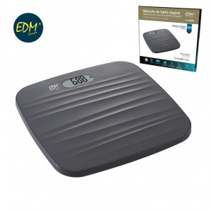 Bathroom scales - Scale bathroom digital base rough black max 180kg