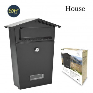 Mailboxes - Buzon In steel model house black colour