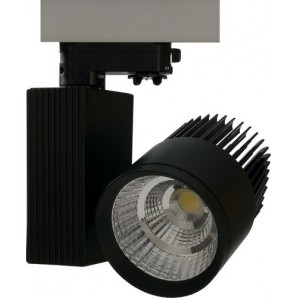 Downlight LED COB Track superficie 33W driver JISO 3000K negro JISO 10233-1964-01