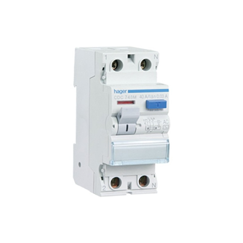 Diferencial 2P 40A 30 mA tipo AC RESIDENCIAL Hager