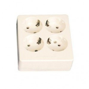 Base multiple square 4 outlets GSC-0800231