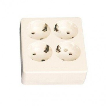 Square multiple base 4 sockets GSC 0800231