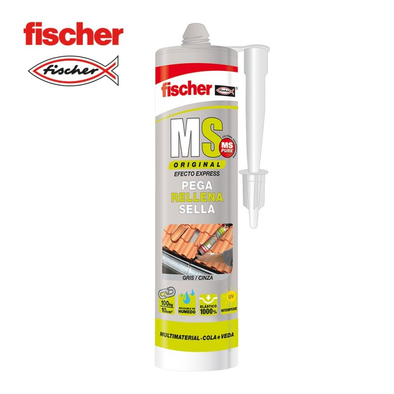 Ms sellante adhesivo gris FISCHER 290ml