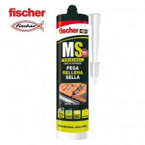 Adhesives and silicone - Ms sellante adhesivo negro FISCHER 290ml