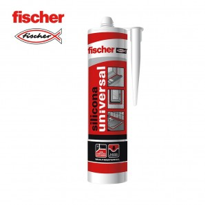 Adhesives and silicone - Silicona universal transparente FISCHER 280ml