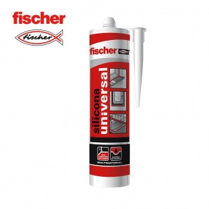 Adhesives and silicone - Silicona universal gris FISCHER 280ml