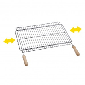 Parilla Extensible barbecue 60x40cm steel zincado