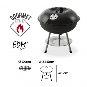Black barbecue ø 35,5cm 3 legs