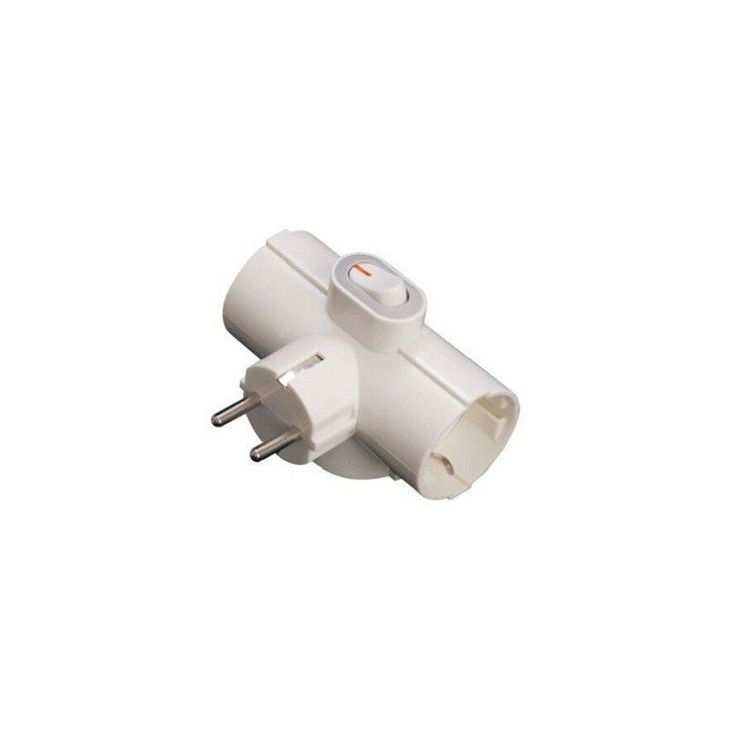 Conector triple con interruptor general GSC 0200717