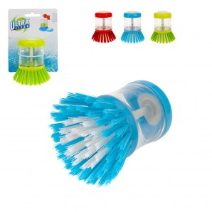 Brush of cleaning of dishes, etc. with dosificador of jabon (assorted colours)