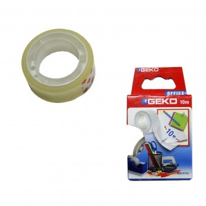 Transparent adhesive strip 10mts
