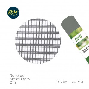 Rollo mosquitera  gris 1,00x30mts