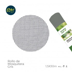 Rollo mosquitera  gris 1,50x30mts