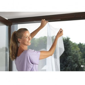 Kills insects - Mosquitera  Window 1 piece 130x150cm (include velcro)