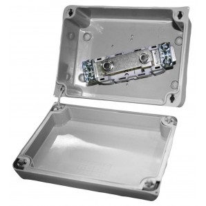 Caja tapa 153x110x65 gris con tapa transparente SOLERA 816PR1P160TP