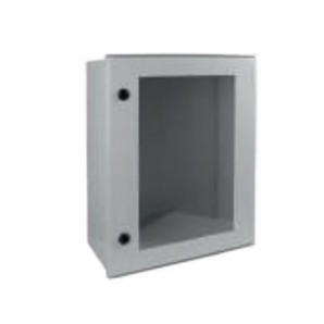 Watertight polyester cabinet with empty transparent door 500x600x250mm SOLERA PX506025TP