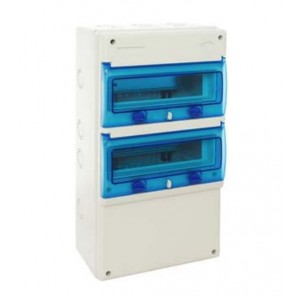 Industrial electrical paneling - Industrial box with 22 elements 270x500x160 IP65 IK08 SOLERA 1322P