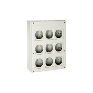Industrial electrical paneling - Waterproof box 821PV9 side wall pre-punched SOLERA 821PV9