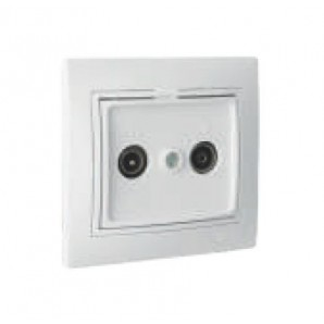 Solera electric mechanisms - Intermediate signal socket for TV and radio screw terminal connection white 83x81mm monobloc SOLERA ERP46U