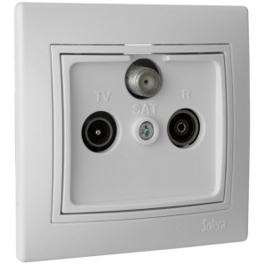 Solera electric mechanisms - Final socket satellite / TV / radio 83x81 white SOLERA ERP48U