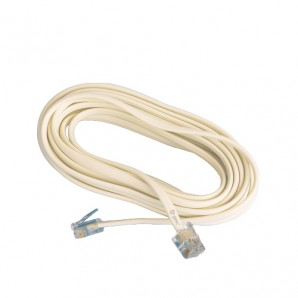 Telecommunications - Telephone extension cable male-male 4.5 meters GSC 2600951