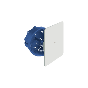 Connection box for embedding in a hollow partition with a diameter of 100mm leveling square lid SOLERA 5514GW