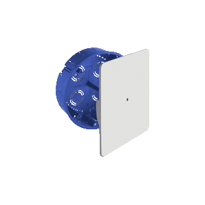 Recessed junction box in hollow partition with a diameter of 150mm leveling square lid SOLERA 5516GW