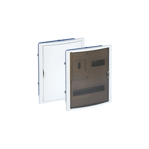 Recessed distribution box in hollow partition of 20 elements + 4 sealable 320x420x75 frame and door white SOLERA 5420