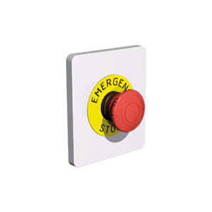 Accessories for electric boxes - Frame with emergency stop SOLERA PE1300