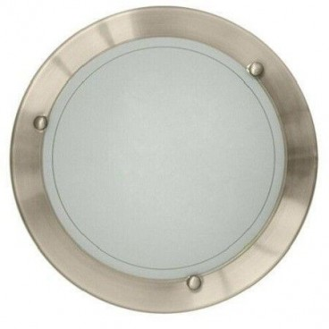 Round ceiling lamp 29cm 1xE27 satin nickel GSC 0701938